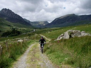 Col (flattyres) climbing out of the Ogwen Valley.