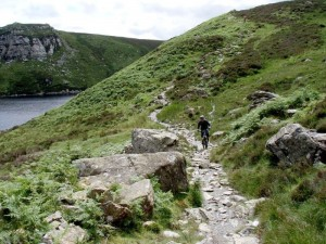 Col (flattyres) at the start of the Llyn Cowlyd trail.