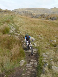 Connor near end of the Rhyd Ddu trail.