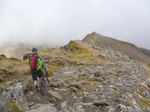 Steve on the Rhyd Ddu ridge traverse.