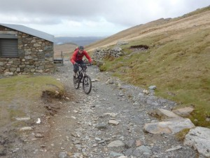 Steve at the Halfway House on the Llanberis Path.