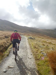 Steve climbing the Llanberis Path.