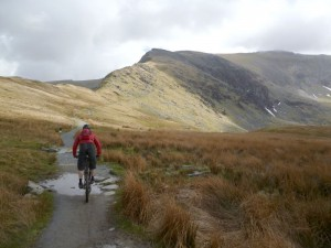 Steve near the start of the Snowdon Ranger hike-a-bike.
