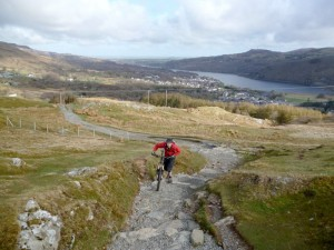 Steve starting the Llanberis Path climb.