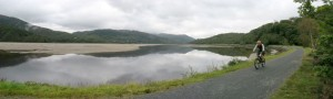 Paul riding the stunning Mawddach Estuary Trail.