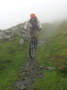 Paul on the Bwlch y Rhiwgyr descent.