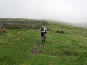 Paul on the long climb up the Braich.