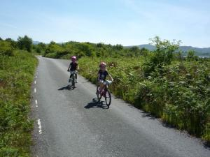 Anna and Elisabeth following Craig Gyfynys lane.