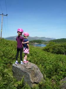 A beautiful view from our picnic stop at the begining of Coed y Rhygen.