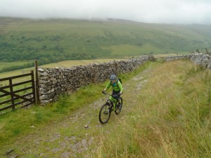 Brian near the top of the steep climb from Littondale.