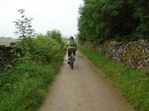 Brian starting the descent of Thwaite Lane.