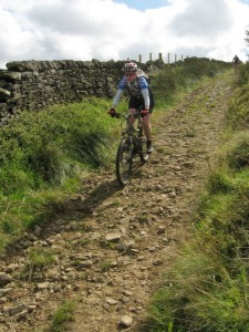 Sabine on the Bow Lane descent.