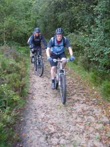 Steve and Ken on the Colden Clough climb.