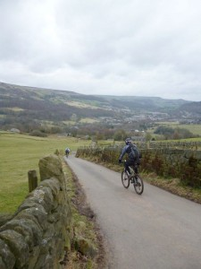 Nearing the end of the descent back to Hebden Bridge.
