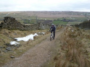 John on the Shackleton Moor climb.