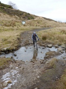 John crossing Shedden Heys ford.