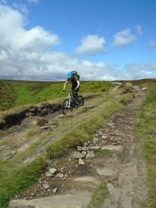 Adrian descending the Bronte Way.