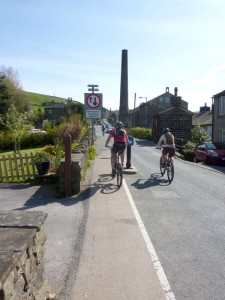 Mark and Anne climbing out of Oxenhope.