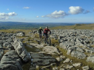 Jason and Justin on the Twisleton Scar limestone pavement.