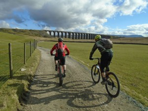 Jason and Justin heading to the Ribblehead Viaduct.