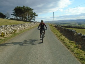 Jason on the lane back to Ingleton.