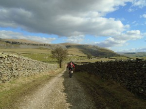 Jason starting the descent to Wharfe.