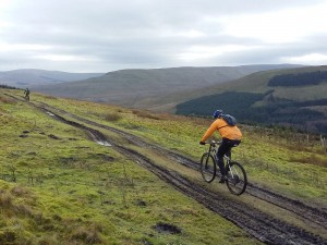 Jan and Brian on the Bends Clints bridleway.