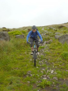 Col (flattyres) on the Whirlaw Common descent.