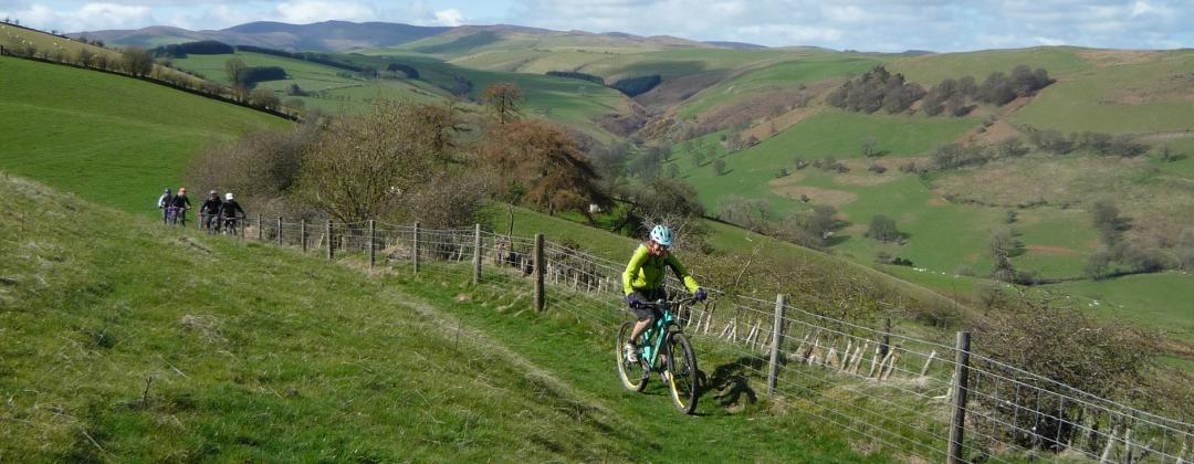 Gwyneth on the Gyrn Moelfre climb North Wales