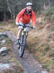 Chris at the end of Cyffty on the Gwydir Mawr trail.