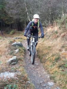 Ken at the end of Cyffty on the Gwydir Mawr trail.