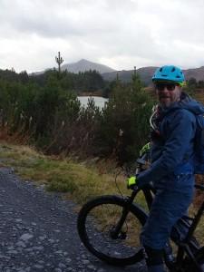 Martyn with a view of Moel Siabod on the Gwydir Mawr trail.