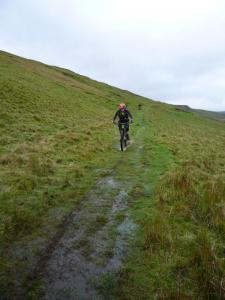 Brian descending to Black Mires.