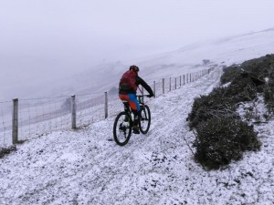 Graham starting the Gyrn Moelfre descent.