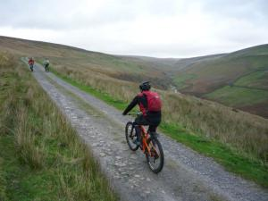 Karl on the Gunnerside Gill climb.