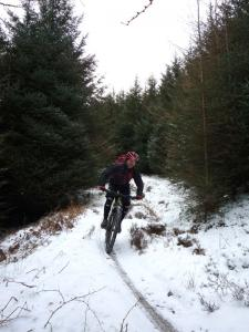 Graham on the Heald Brow Pasture singletrack.