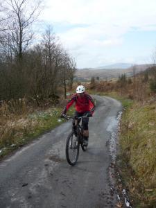Stu at the top of the Bletherbarrow lane climb.