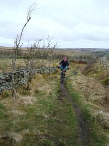 Nick on the singletrack climb from Brown Hill Lane.