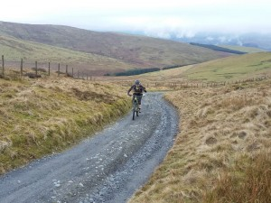 Brian almost at the top of the Wayfarer climb.