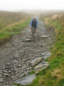 Ritchie on the rocky start to the Wayfarer decent.