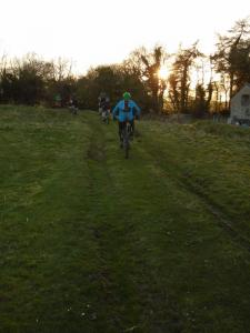Starting the Big Wood descent at Mwynbwll.