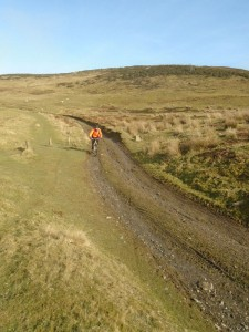Lee on the Moel Dywyll descent.