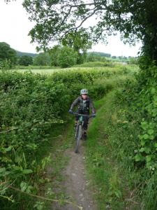 Becky on the lower Keegan's Lane singletrack.