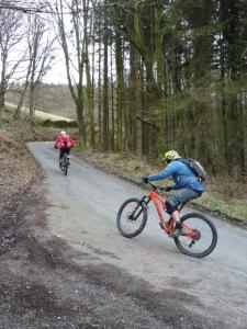 Mark and Stu on the steep Bletherbarrow lane climb.
