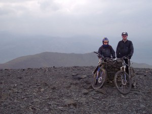 Paul and Col (flattyres) at the summit of Skiddaw.