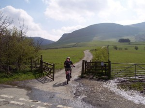 Paul at the start of the Skiddaw House bridleway.