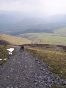 The first steep slog up Skiddaw.