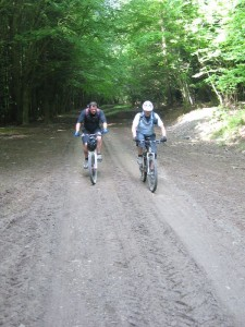Gaz and Russ on the Clwyd Gate climb.