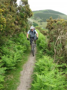 Russ riding from Moel Arthur.