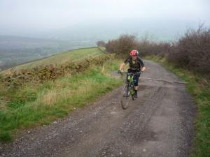 Brian on the Brough Lane climb out of Hope Valley.